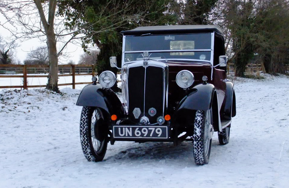 1934 Minor Two seater UN 6979  in the snow Trevor Wilkinson