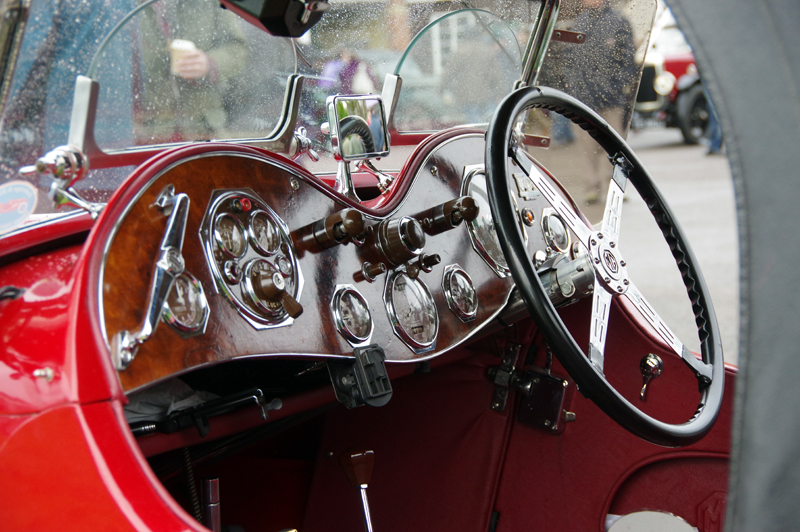 MG P Type Midget cockpit