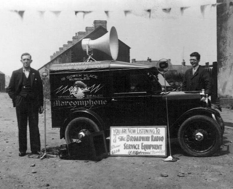 Marconiphone 5 cwt Minor Van Mumbles Wales ed ws