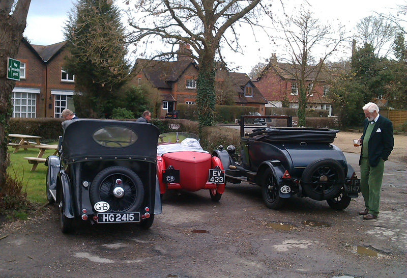 Home Counties Spring Pub Meet Bullnose, Midget & Minor Tourer