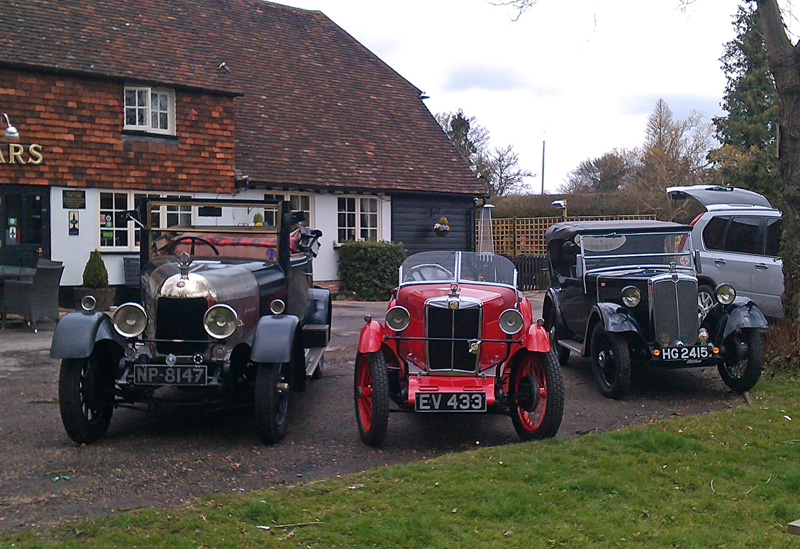 Home Counties Spring Pub Meet - the trio