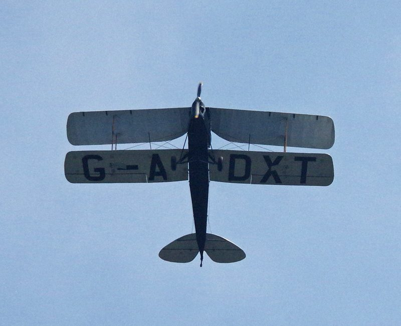 2016 Rally G-ADXT 1935 Tiger Moth over Shaftesbury ex Compton Abbass ed
