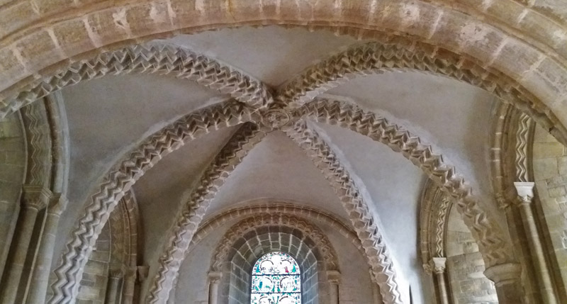 Tickencote Church vaulted ceiling