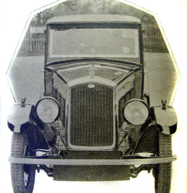 1930 Wolseley Hornet Saloon front view Auto Motor Journal May 1930