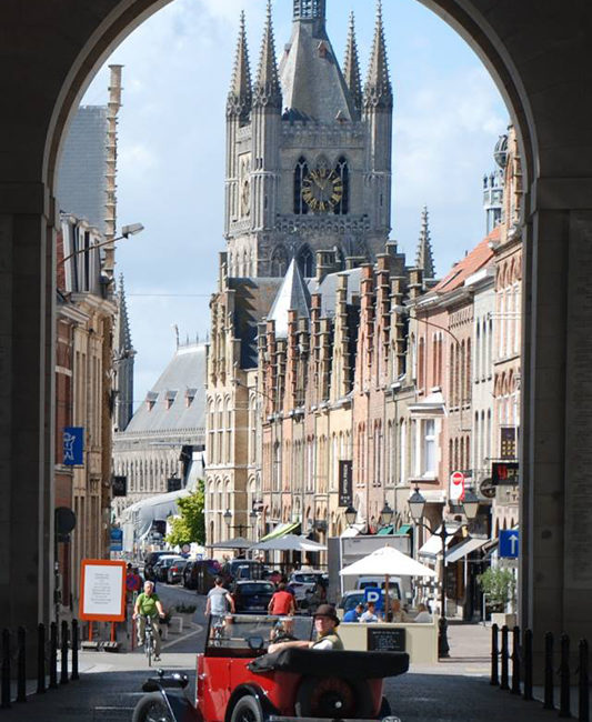 Looking through The Menin Gate, Ypres