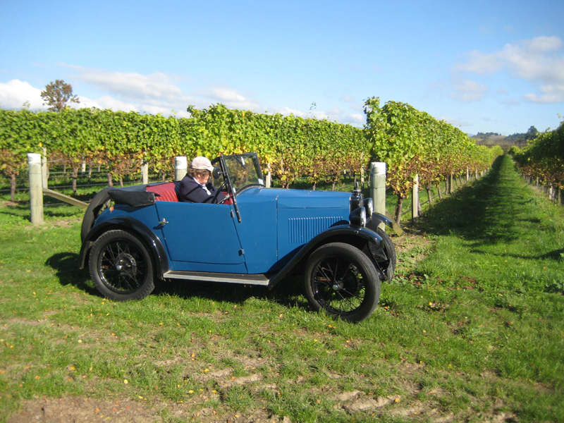 AT 6795 1931 Minor Two seater Nelson New Zealand Vineyard Peter Field