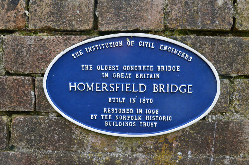 Homersfield Bridge blue plaque_
