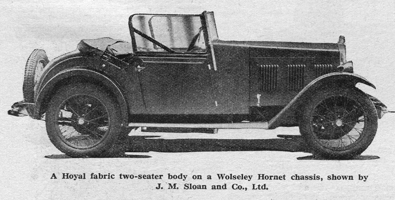 1930 Scottish Motor Show car. Note body differences between this and earlier model