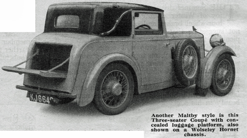 1932 Maltby Wolseley Hornet Coupe special