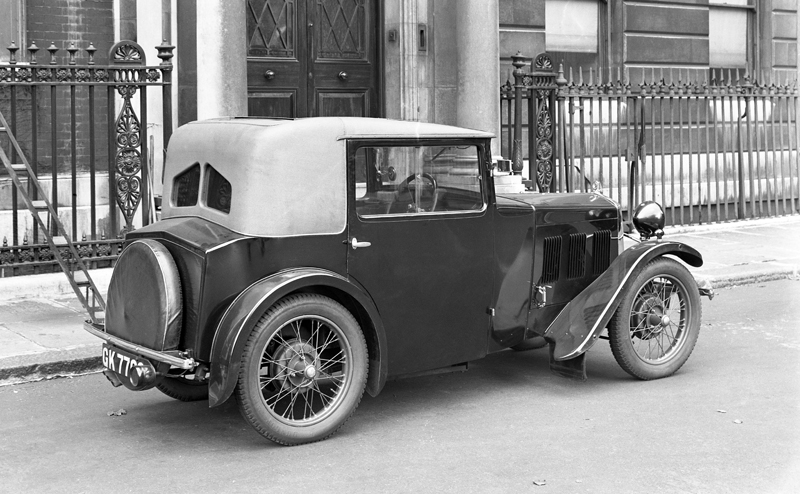 LATPlate E1257 Wolseley Hornet EW Eustace Watkins Occasional Four seater sports Coupe special