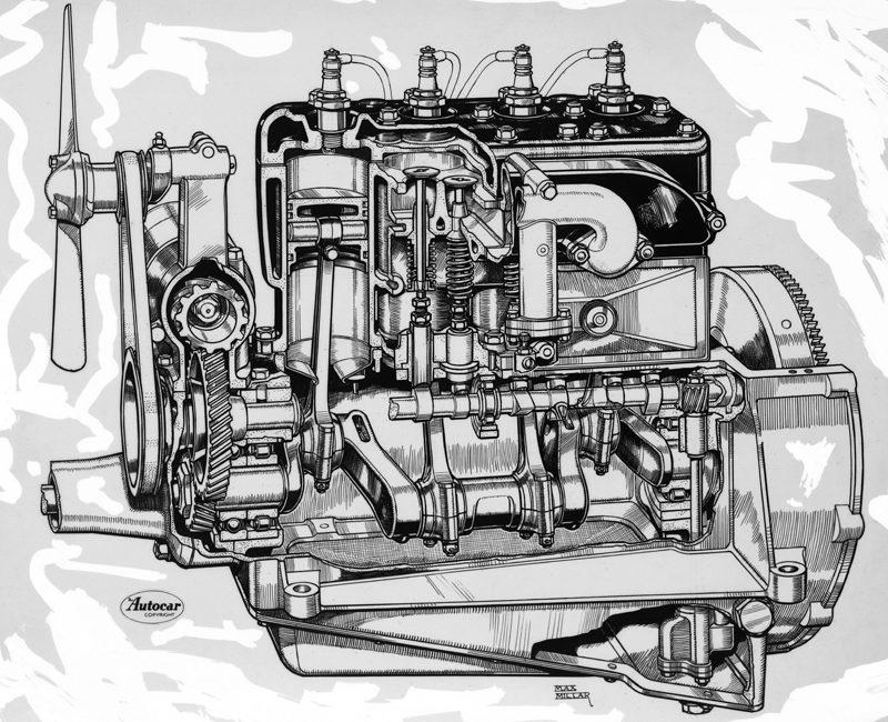LATplate AUT-43 Austin Seven engine cut-away