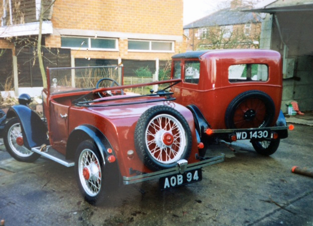 AOB 94 Minor Two Seater & WD 1430 1930 Minor Coachbuilt saloon John Seddon