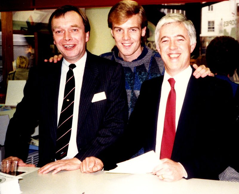 Image no.41Kerry Dixon (Chelsea Footballer) Cliff Henderson Chris Lambert Reading Copy Centre official opening 1988