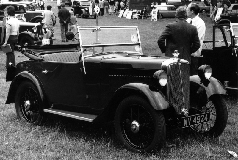 WV 4924 1934 Minor Two seater Stamford Hall 1979 Les Leach K Martin ws