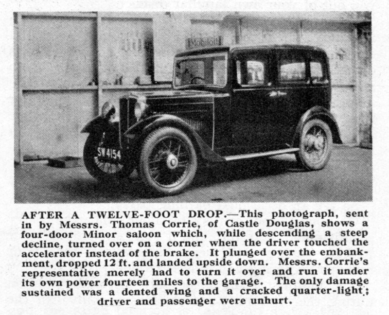 SW 4154 1933 Minor Family Eight Morris Owner snippet July 1933 ed ws
