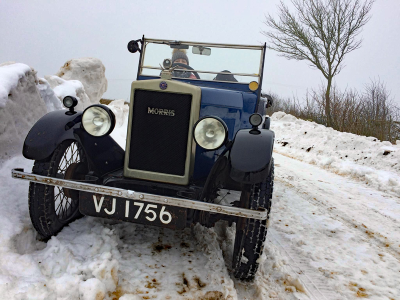 VJ 1756 Janie and Prudence out in the snow ws