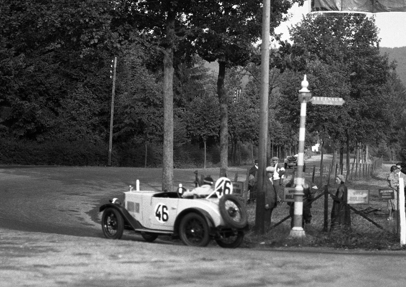 LATPlate B6734 1931 belgium 24 hour race Morris Minor Goemans-Blin DOrimont ws