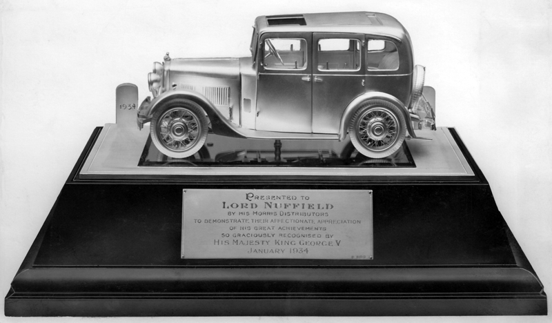 Silver Morris 10-4 model as presented to Lord Nuffield 1934 ws