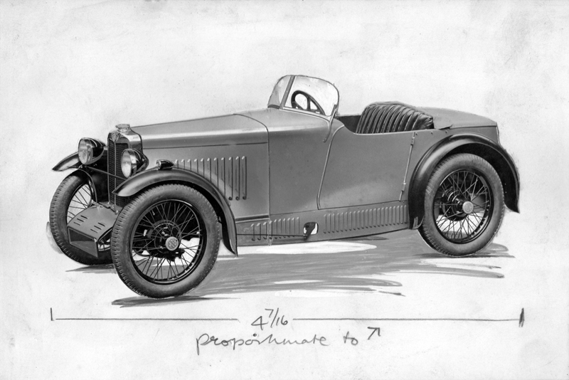 1929 Midget graphic illustration Autocar