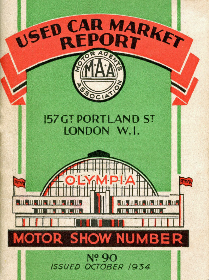 1934 Used Car market Report booklet cover ws