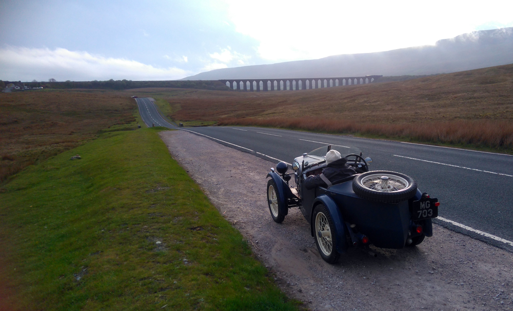 MG 703 1930 MG Midget Ian Judd Ribblehead viaduct Drive it Day 2019