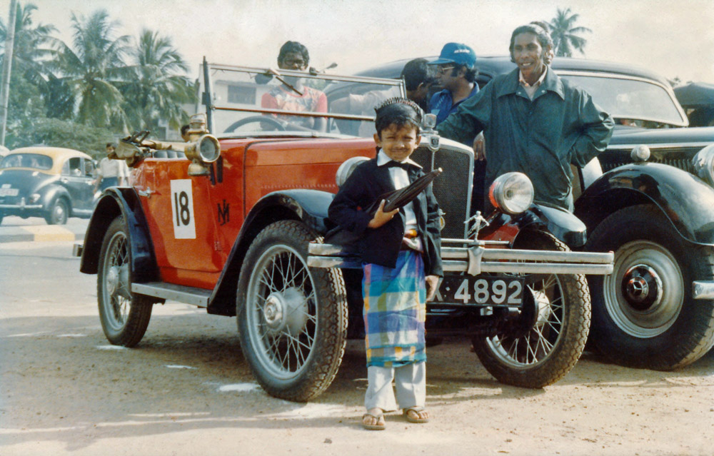 1933 Minor Two seater X 4892 Columbo Sri Lanka June 1986 Old Crocks Rally b ed ws