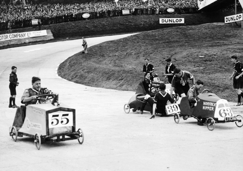 Soap box derby Brooklands ws date unknown
