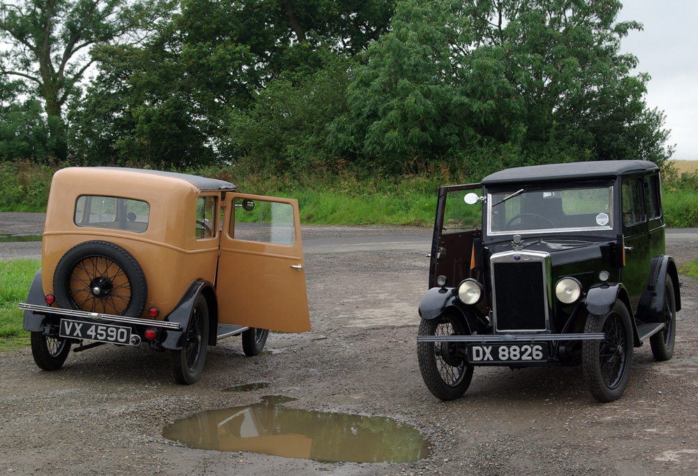 VX 4590 and DX 8826 abandoned saloons VMR Cotswold Rally 2009