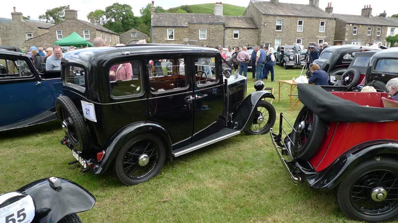 AAO 463 1934 Minor Four door saloon Beamish run June 2019 Peter Brock