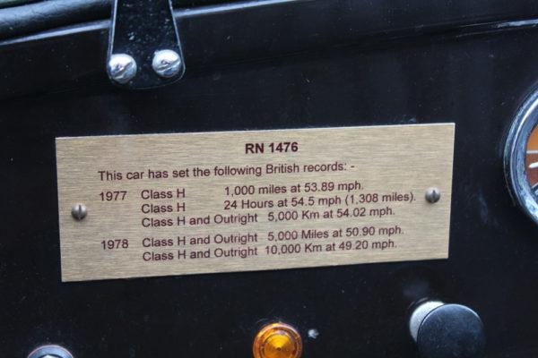 Firle Hill Austin Seven Class H record breaker Austin Seven