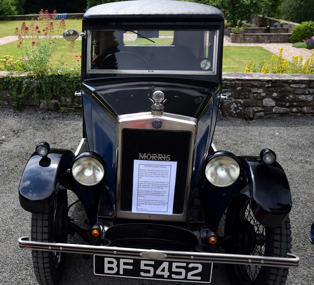 BF 5452 1929 Morris Minor Cammy Saloon ex Orchid Cars Bill Rowlatt Eardisley Hereford ws
