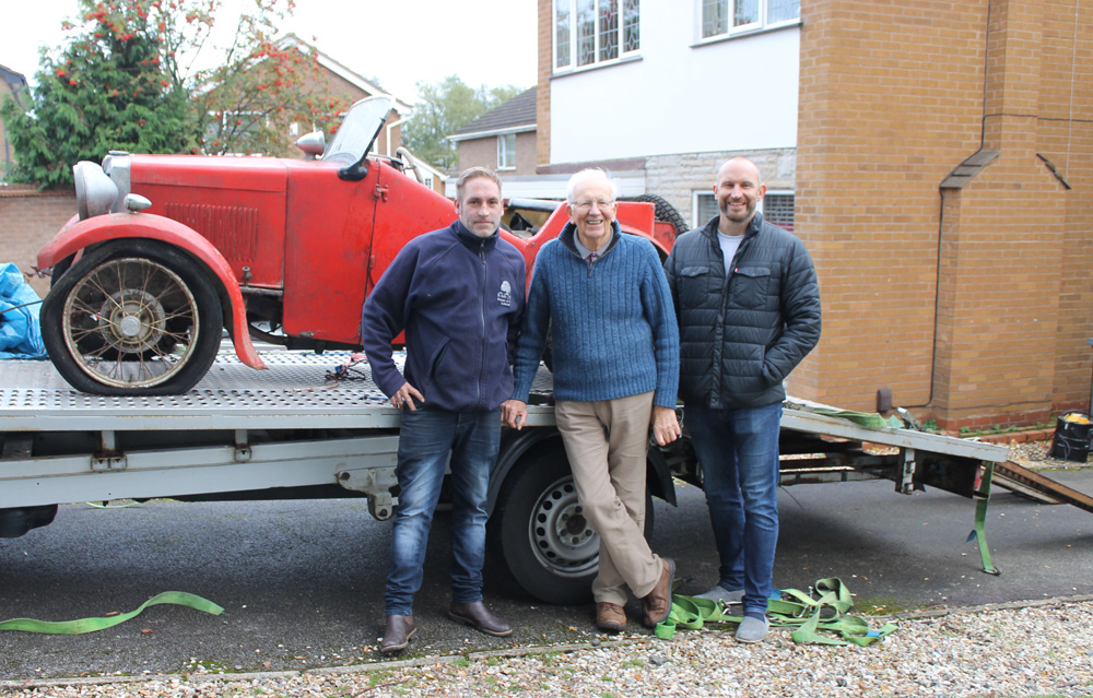 DG 4888 1932 former Midget Sportmans Coupe reunited 11th October 2019 Barry Robinson b ws