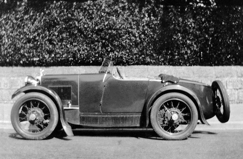 Late 1931 or 32 MG M Type Midget snapshot identity unknown ws