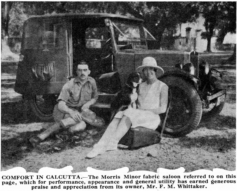 Fabric Saloon in Calcutta Morris Overseas Mail August 1930