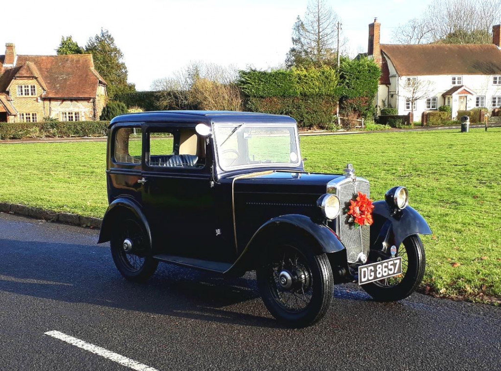 DG 8657 1934 Minor saloon Kenneth Allen December 2019 Send Marsh Green