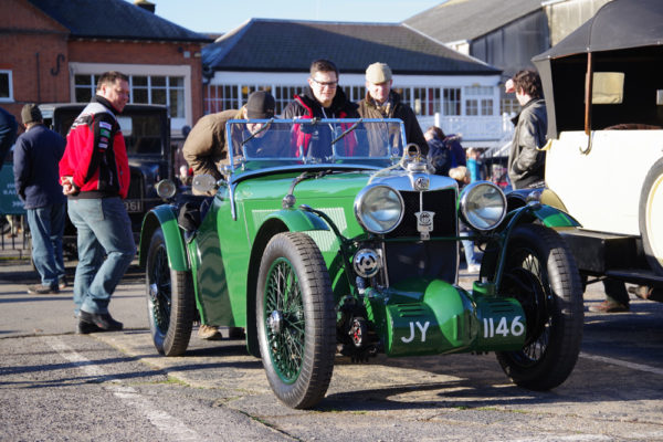 VSCC NY Driving Tests 2020 Brooklands 1930 MG J4 replica ws