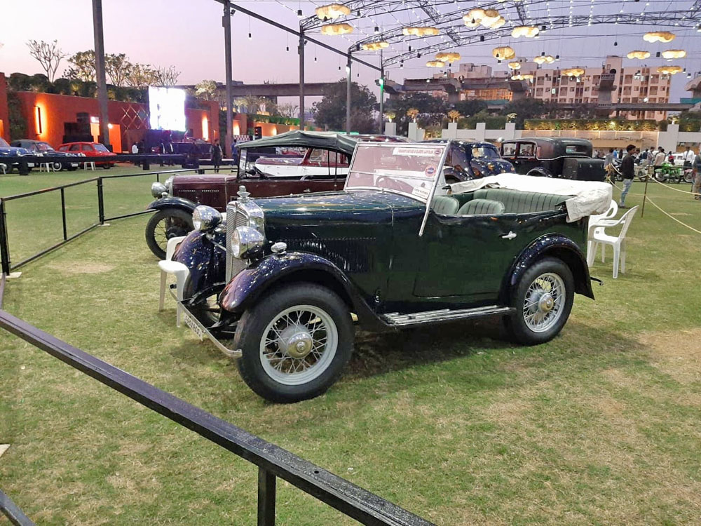Parth Mehd GBQ 1600 1934 Minor Tourer Ahmedabad car show ws