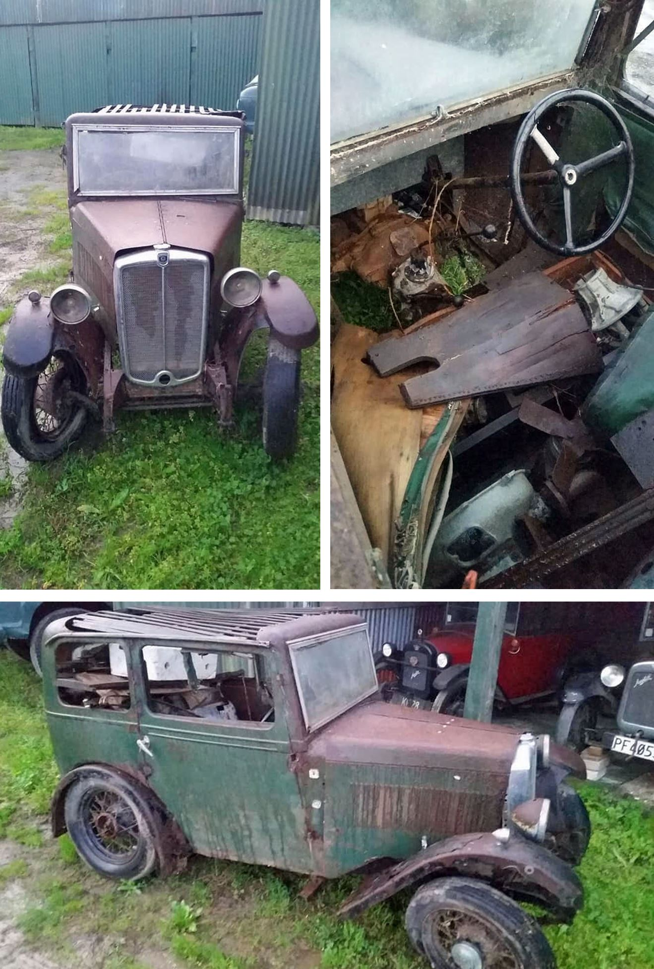 1933 Minor Saloon North Island New Zealand find $300 NZ via John McDonald June 2020 compilation b