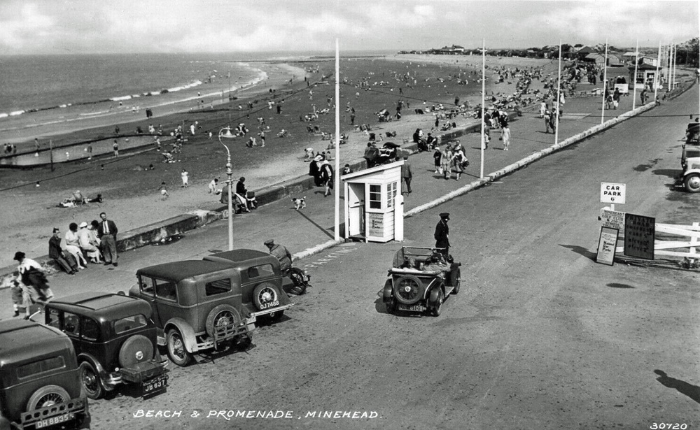 UN 6109 1932 33 season Minor Two-seater Minehead postcard NCP car park ws