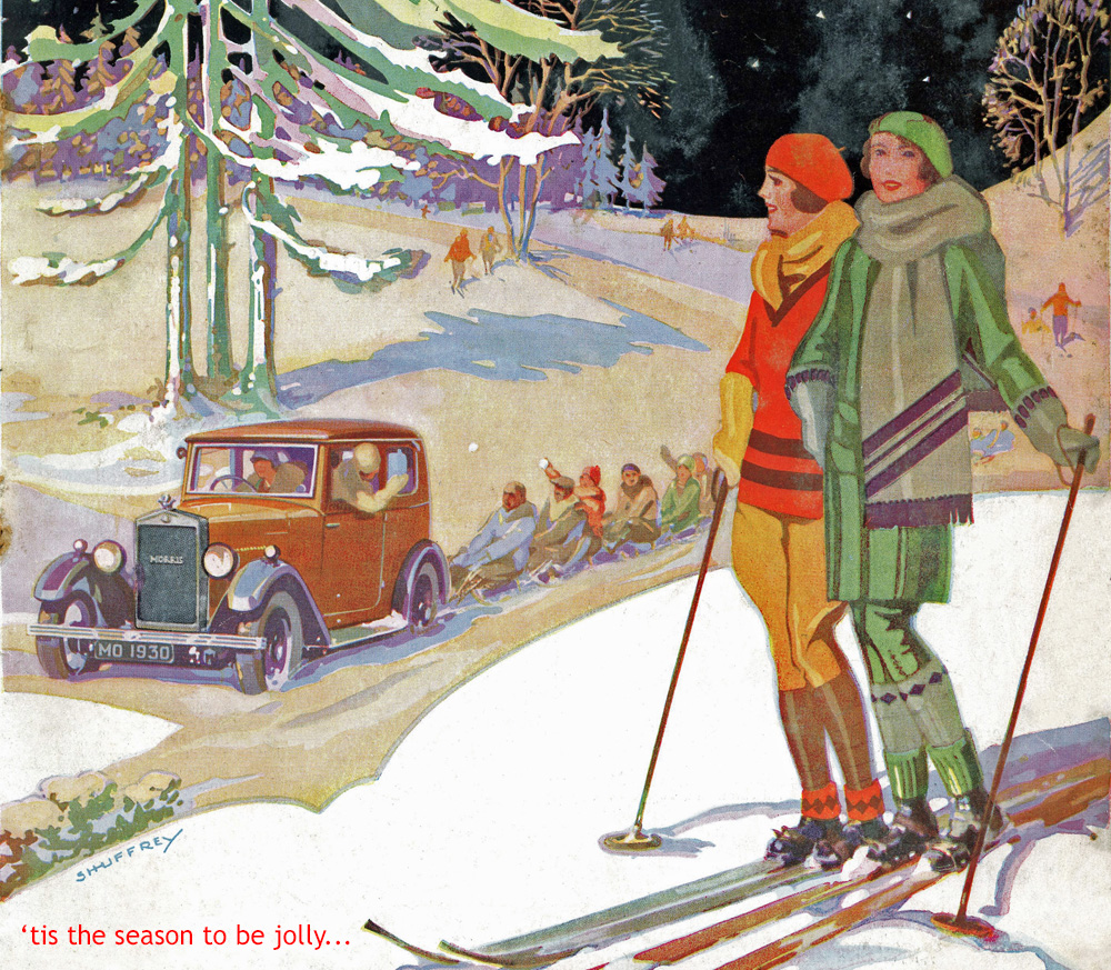 Morris Owner cover January 1930 snow christmas Xmas website 2020 Xmas Christmas header ws