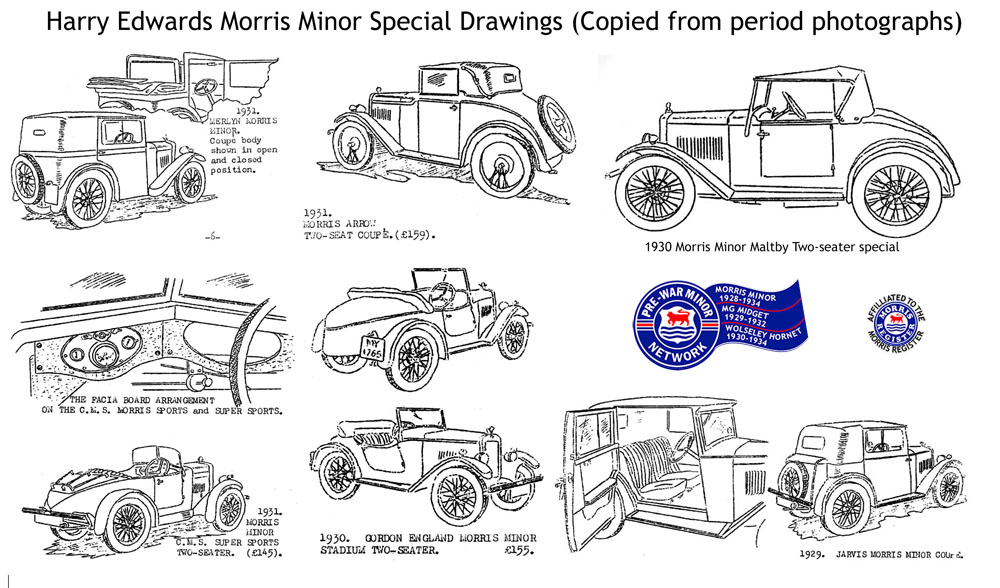 Harry Edwards Morris Minor Special Drawings c ws