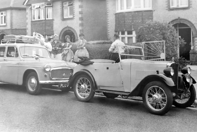 AFY 46 1934 Minor Two-seater 34-MS-43819 Outside Daisys snapshot April 2021 ed ws