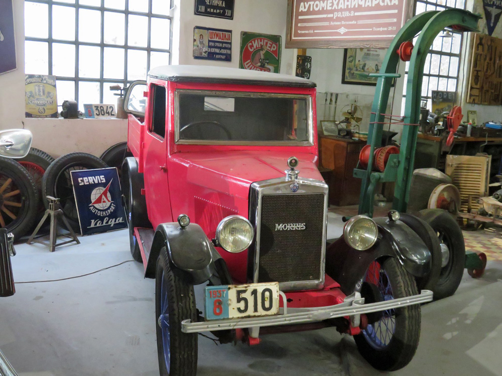 1929 Morris Pick Up, UK, 4 cylinder, 20 hp, top speed 35 mph, The Automobile Museum, Bratislav Petkovic Collection, Belgrade, Serbia, October 31, 2017 ws