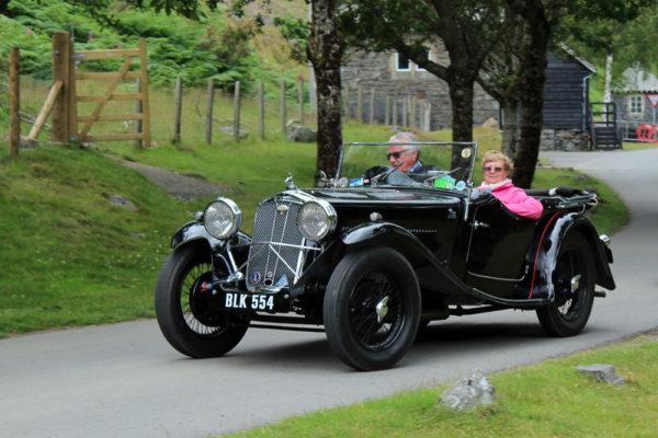 2021 PWMN Rally BLK 554 1934 Wolseley Hornet Special Elan Valley visitor centre (Butland) ws