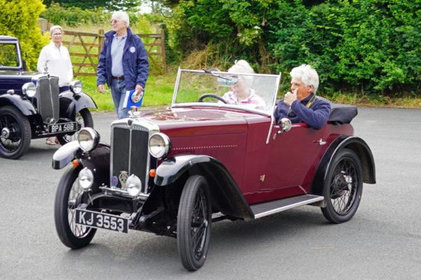 2021 PWMN Rally KJ 3553 Avril & Tim Ovenden Titley Village Hall Car Park ws