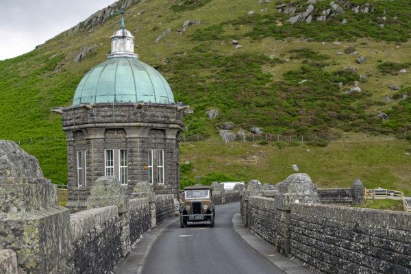 21-07-9 The Marches Rally KateMartinPic16 Saturday Tour Elan Valley Craig Goch Dam+The Old Car