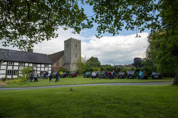 21-07-9 The Marches Rally KenMartinPic7 Saturday Tour The Old Priory Titley Evening