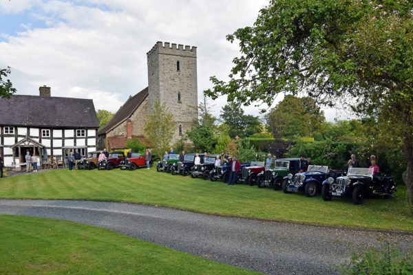 21-07-9 The Marches Rally KenMartinPic8 Saturday Tour The Old Priory Titley Evening
