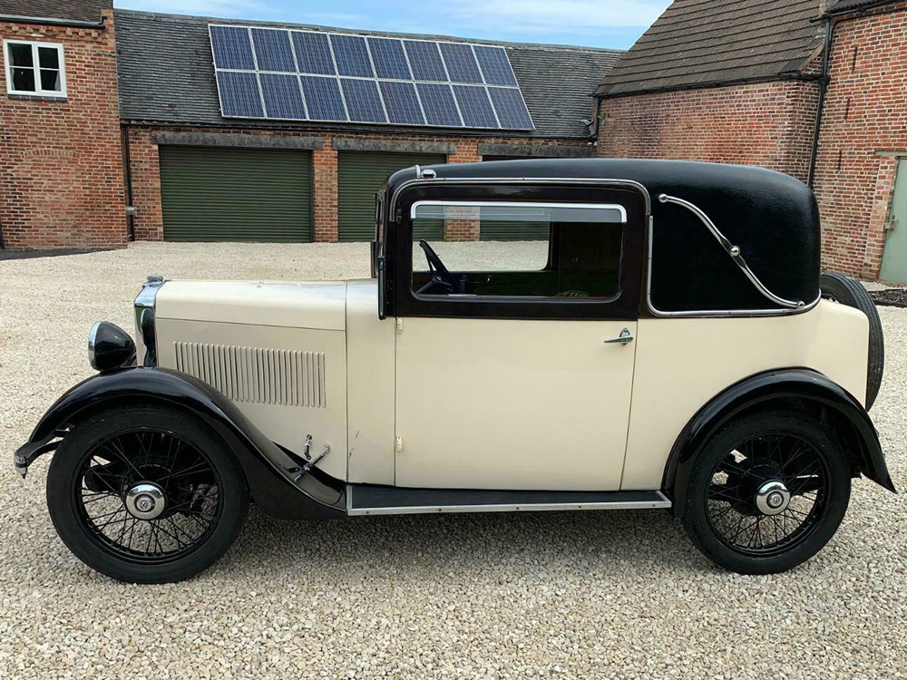 ANO 741 1934 Minor Special Coupe eBay July 2021 £13k Leicester dealer d ws